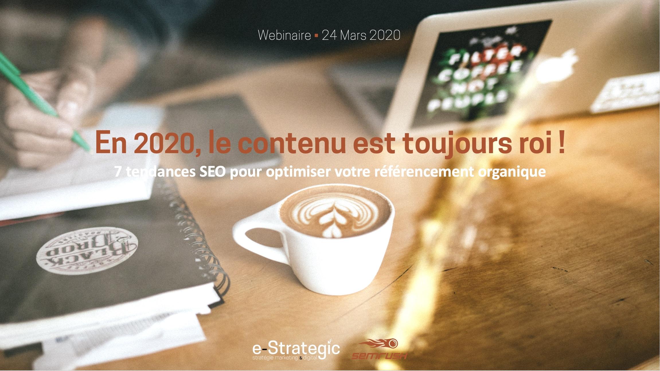 Les 7 tendances SEO en 2020 : le contenu est toujours roi !