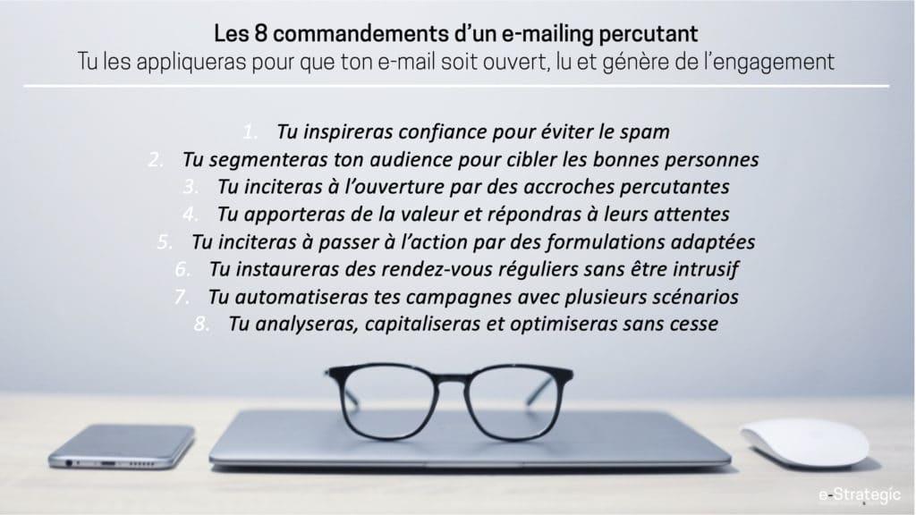 Les 8 commandements d'un emailing percutant